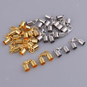 20-Sets-Tube-End-Leather-Cord-Bracelet-Necklace-Lobster-Clasps-Hooks-Dia-4mm