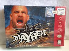 NEW WCW World Championship Wrestling Mayhem N64 (Nintendo 64 1999) Never Opened