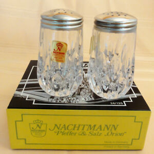 Orion Nachtmann Crystal Salt Pepper Set 3 5 New In Box Never Used Germany Ebay