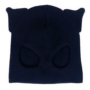 Gothic Horror Punk 80s 90s Cosplay Black Kitty Cat Woman Beanie Half Ski Mask