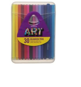 Paquete De 30 plumas Whsmith Arte colorante