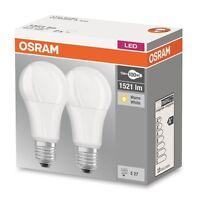 2er Pack Osram LED BASE Classic A10 E27 13W warmweiß LED-Lampe = 100W Glühbirne