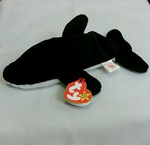 a06bed66d4e Ty Beanie Baby SPLASH the Killer Whale  4022 w Errors PVC 1993 ...