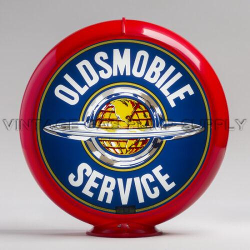 "G235 Oldsmobile Service 13.5/"" Gas Pump Globe w// Red Plastic Body"