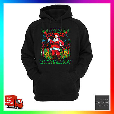 Feliz Navidad Christmas Sweatshirt Funny X-Mas Pullover Fleece Sweater