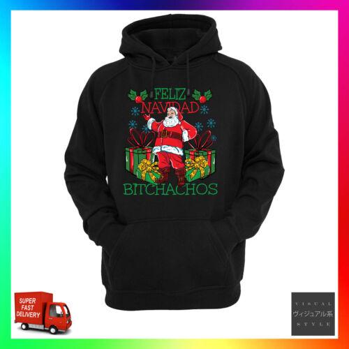 Feliz Navidad Bitchachos Hoodie Hoody Xmas Merry Christmas Funny Rude Offensive