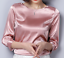 Womens-Formal-Shirt-Vintage-3-4-Sleeve-Top-Solid-Blouse-Work-Satin-Silky-Outwear thumbnail 15