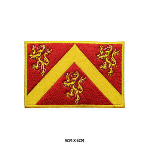 ANGLESEY County Flag Embroidered Patch Iron on Sew On Badge For Clothe etc