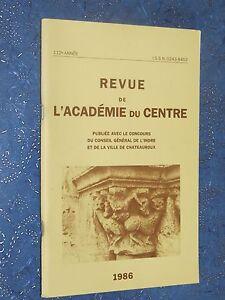 Revue-de-l-039-Academie-du-centre-1986-INDRE-BERRY