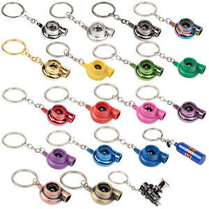New-Quality-Metal-Turbo-Charger-Key-Ring-Fob-Keyring-Keychain-17-Colours-NOS-BOV
