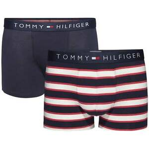 b7a42cc1ee45 Tommy Hilfiger Boy's 2 Pack Icon Boxer Brief, Trunk, Red / Navy ...