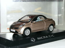 Norev Dealer Edition 2005 Nissan Micra C+C Metallic Gold 1/43