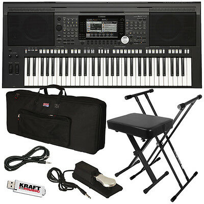Yamaha PSR-S970 Arranger Workstation Keyboard STAGE ESSENTIALS BUNDLE