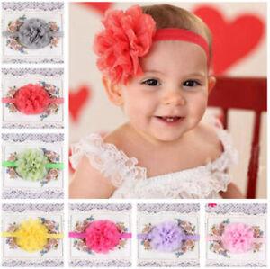 Smart Lovely Little Babies Girls Flower Hair Band Elastic Headbands ... 1275593d01b