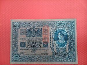 Biglietto Di 1000 Kronen Austria Di 1902