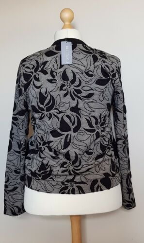 Betty taglia astratto by Co 18 Bomber nero Bnwt floreale Barclay vwxRvqrT