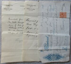Three-1922-Receipts-signed-over-stamps