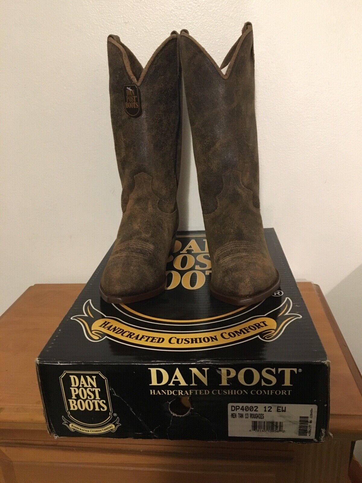 Dan Post para hombre DP4002 12EW tan roughies 13