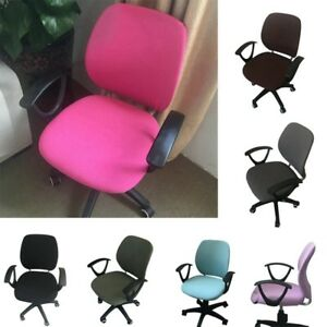 Image Is Loading Computer Chair Cover Home Office Elastic Split Slipcover
