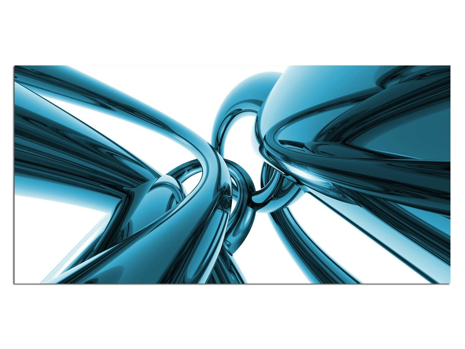 Deco De Vidrio Imagen eg4100500728 Cromado Diseño Azul Tamaño 39,37  X 19,68  Hd Print