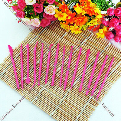 14Pcs/Set Fondant Cake Flower Modelling Sugarcraft Decoration Cutter Set Tools H