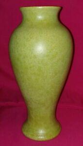 """Vintage Royal Haeger Pottery (12""""T) Large Vase #4030 -Chartreuse Green (Marbled)"""