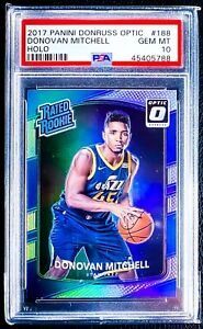 2017-18-Donruss-Optic-DONOVAN-MITCHELL-RC-Holo-Prizm-Silver-Rookie-PSA-10