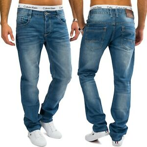 Herren-Regular-Fit-Jeans-hellblau-Denim-Straight-Leg-Gerades-Bein-Comfort-Cut