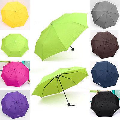 New Portable Windproof Waterproof Mini Folding Umbrella Tri-folded Umbrella