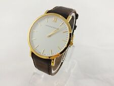 Larsson & Jennings Gold Lugano Brow Leather Strap Unisex Wristwatch 40mm