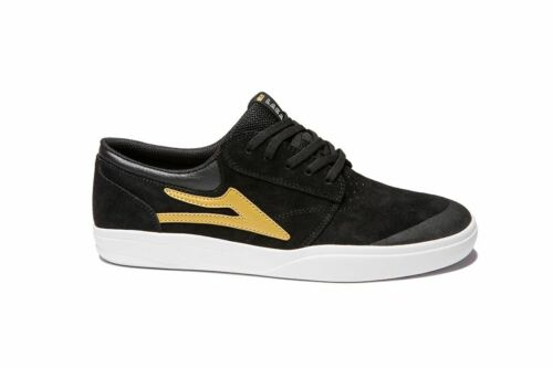 LAKAI Skateboard Shoes GRIFFIN XLK BLACK//GOLD SUEDE