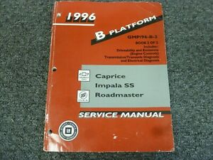 1996 Chevy Caprice Factory Electrical Wiring Diagrams Shop ...