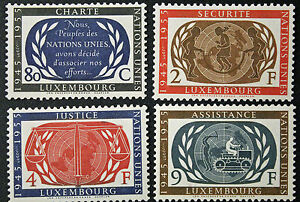LUXEMBOURG-timbres-Stamps-Yvert-et-Tellier-n-496-a-499-n-a-cyn8