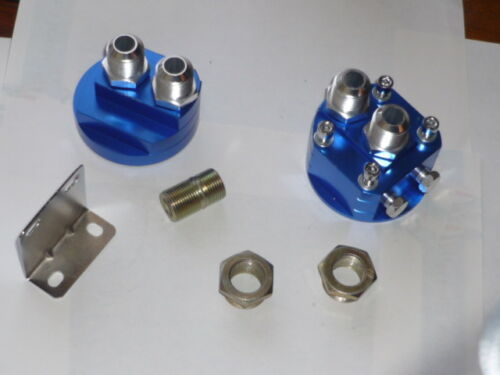 Remote Oil Filter Adaptor Holden etc JACKMASTER 18mm centre nut AN10 fittings