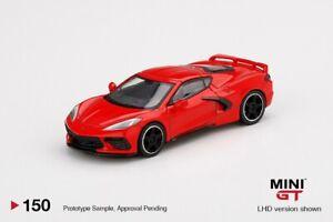 Mini-GT-2020-Chevrolet-Corvette-Stingray-red-1-64-Diecast-Modelo-Coche-MGT00150