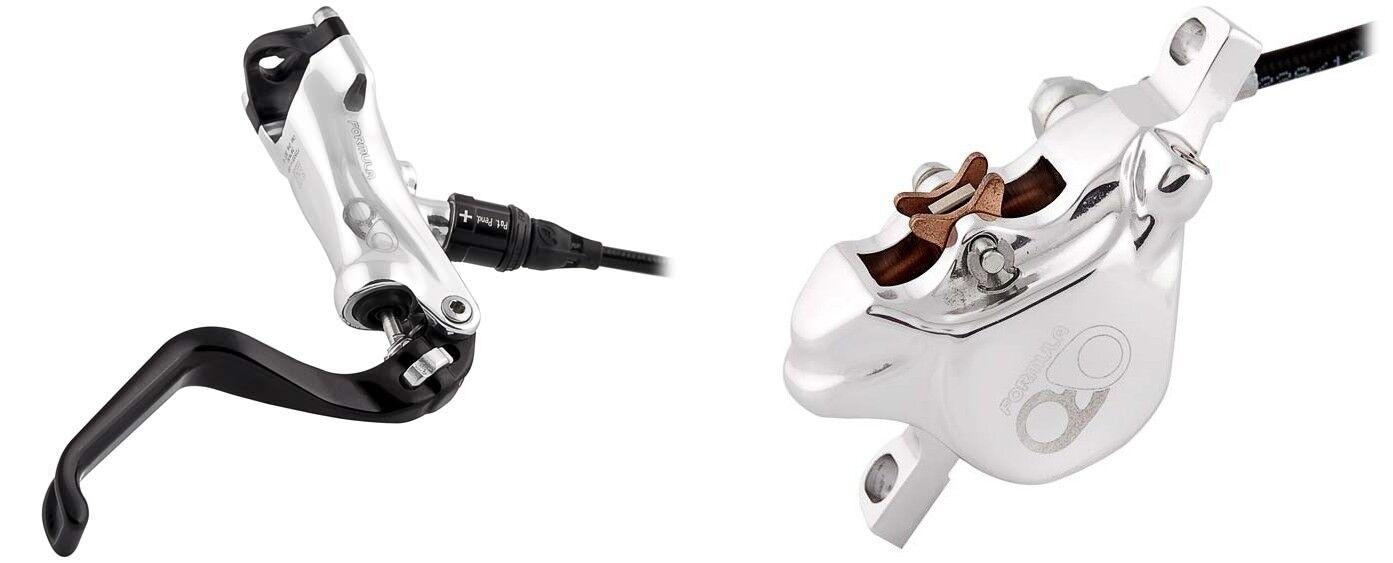 FRENO a Disco argentoo Lucido Formula RO Set per anteriore e posteriore