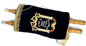 Jewish-big-Print-sefer-torah-Scroll-Book-Hebrew-Bible-amp-yad-pointer-israel-Size18-034