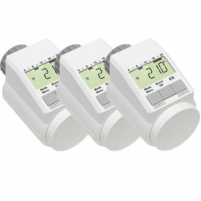 Eqiva Model L Elektronik-Heizkörper-Thermostat mit Boost-Funktion 3er-Set