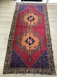 "Rugs & Carpets 8'10""x 4' Free Shipping!!! Vintage Wool Turkish Handmade Area Rug"