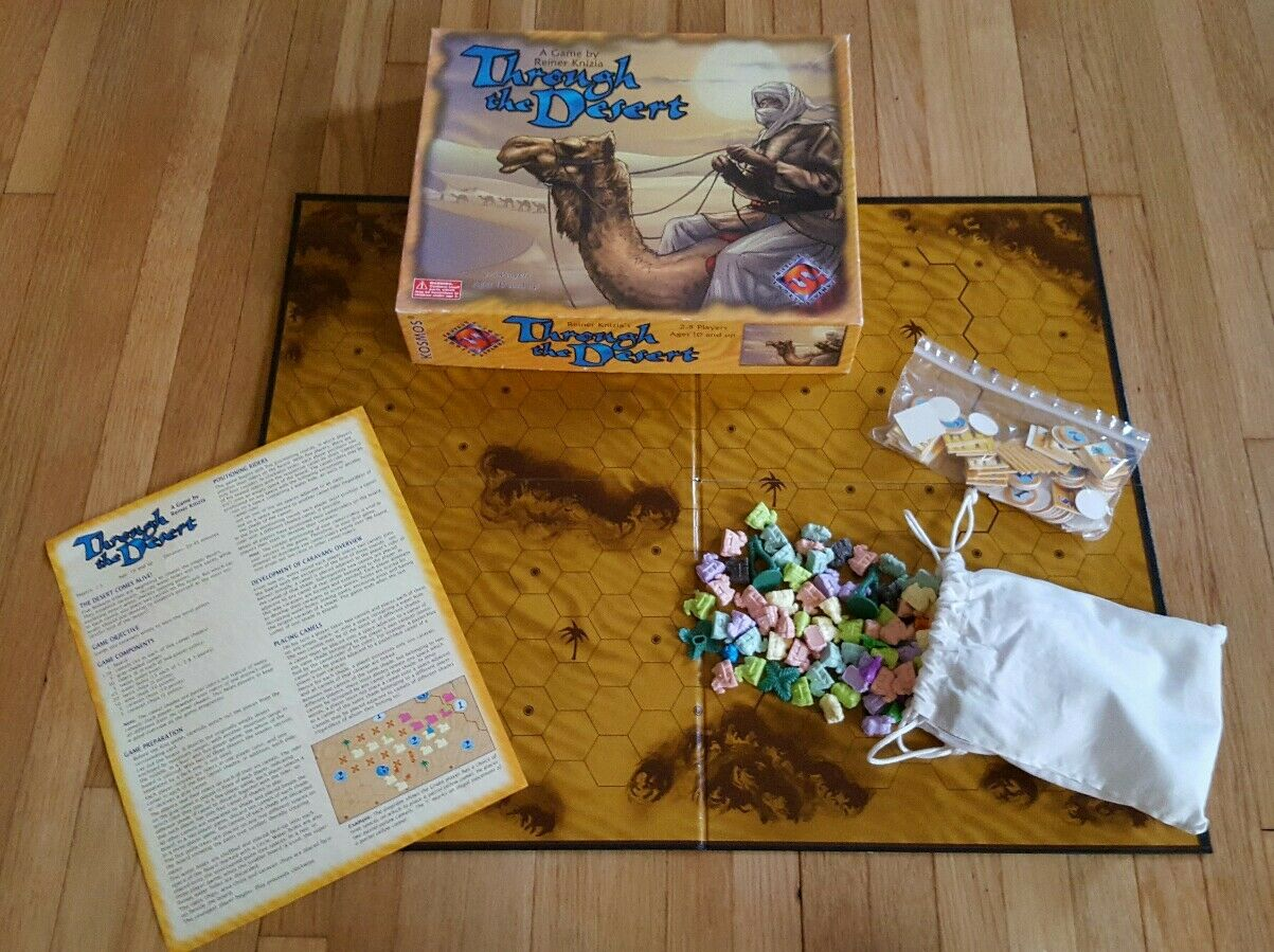 Reiner Knizia's Through The Desert (Board Game) Fantasy Flight RARE COMPLETE