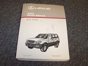 2000 lexus lx470 suv workshop shop service repair manual book vol1 rh ebay com lexus v8 engine workshop manual 94 Lexus ES300 Service Manual