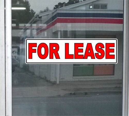 2X Printed Sticker FOR LEASE 400mm X 130mm For Outside shop Windows
