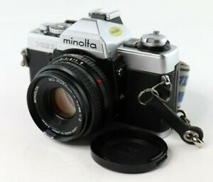 Minolta-XG-1-35mm-Manual-Focus-Camera-Kit-w-45mm-Lens-EUC