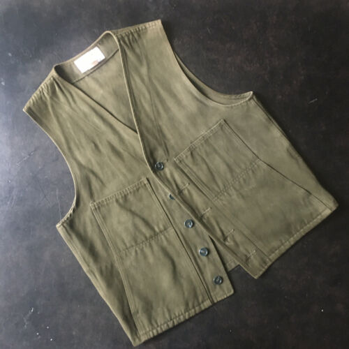 Filson Moleskin Hunting Vest Medium 40 Olive Green