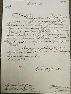 1830 119) LETTERA NON AUTOGRAFA CARDINALE GIUSEPPE ALBANI PORTO PONTELAGOSCURO