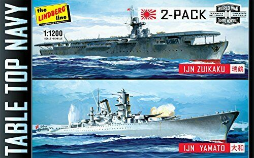 Lindberg Models  Tabletop Navy WWII Ships Model Kit (Pack of 2)