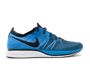 2012 Nike FLYKNIT TRAINER+ RACER ONE blueE GLOW TINT WHITE BLACK 532984-440 12 US