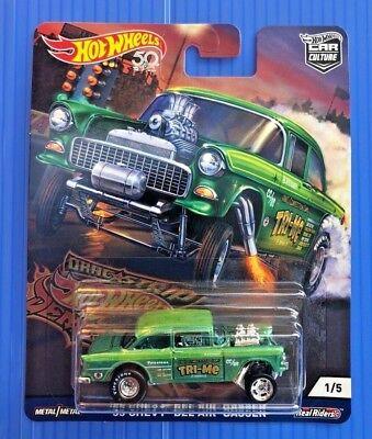 /'55 CHEVY BEL AIR GASSER☆green☆2018 Hot Wheels DRAG STRIP DEMONS Car Culture