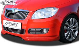 RDX-Frontspoiler-SKODA-Fabia-2-5J-2010-Front-Spoiler-Lippe-Vorne-Ansatz