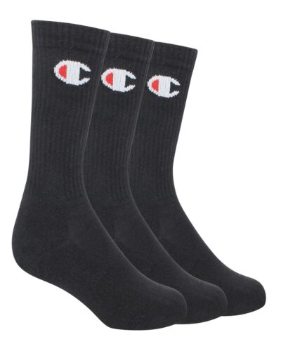 Champion LIFE Men/'s 3-Pack Athletic Life-C Logo Embroidered Crew Socks
